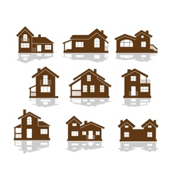 Set apartment house icons vector