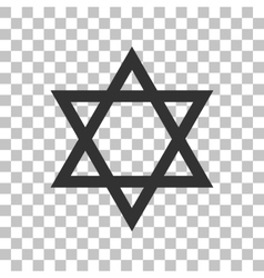 Shield Magen David Star Symbol of Israel Dark vector