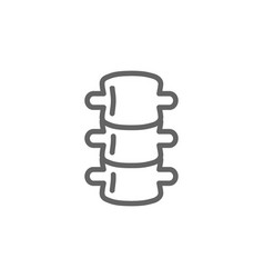 Simple backbone line icon symbol and sign vector