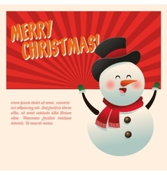 Snowman cartoon of Christmas season design vector