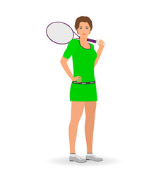 Sport people concept tennis woman vector