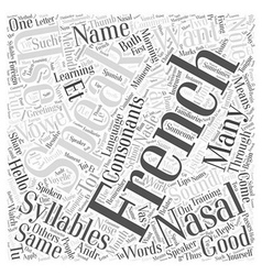 Syllables in Learning French through Foreign vector