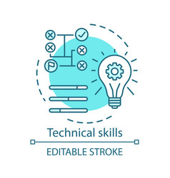 Technical skills turquoise concept icon vector