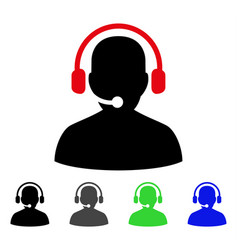 Telemarketing flat icon vector
