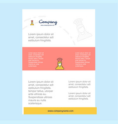 template layout for chef comany profile annual vector image