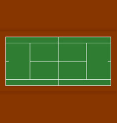 tennis court from top view flat design vector image