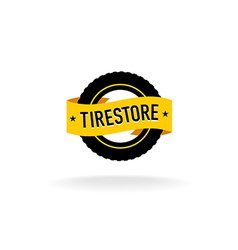 tires store logo vector image