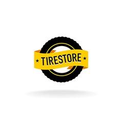 Tires store logo vector