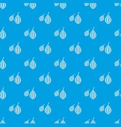 Trachyspermum ammi pattern seamless blue vector