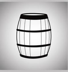 Wine barrel wooden image vector
