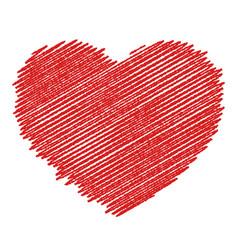 wooden valentine vector image
