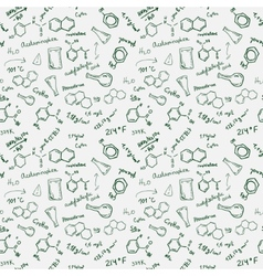 Chemistry seamless background vector
