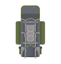 hiking backpack in flat design vector image vector image