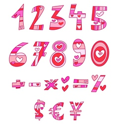 love numbers vector image vector image