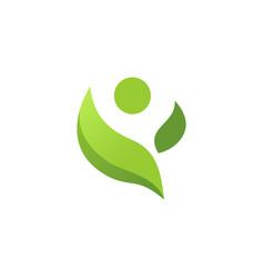 healthy life leaf logo vector image