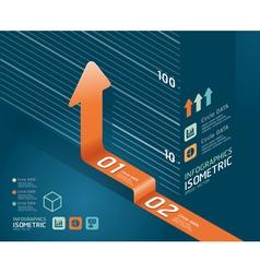 infographic orange arrow diagram chart vector image vector image