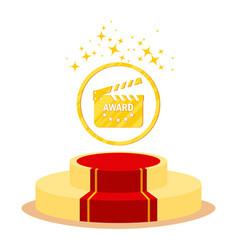 podium for cinema award vector image vector image