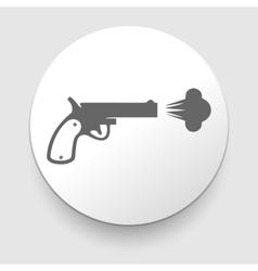 Revolver icon on white background vector image