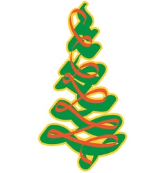 Ribbon Pine Tree vector image vector image