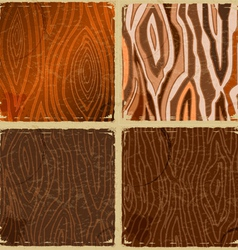 Set of vintage wooden plates in grunge style vector image