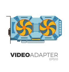 video card vector image