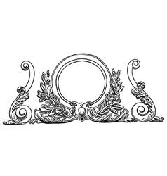 vintage sketch design element vector image