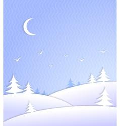 Winter background scene ice cold vector image