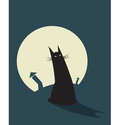 Cat Night vector image