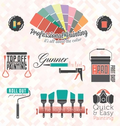 Commercial Residential Painting Icons vector image vector image
