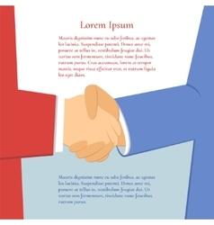 Handshake businessmen vector image