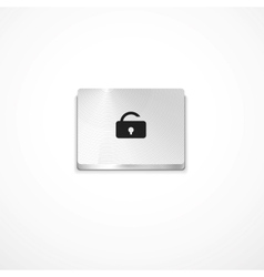 secure button vector image