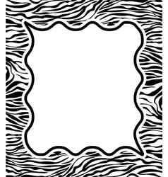 zebra skin texture vector image vector image