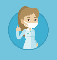 doctor giving thumbs up vector image