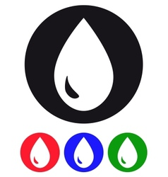 Drop of water Icons vector image vector image