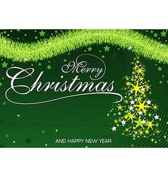 Green Christmas Greeting vector image vector image