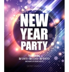 New year and Christmas party poster template vector image