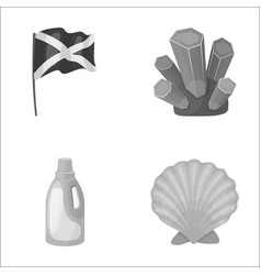Travel cleaning and other monochrome icon in vector