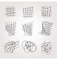 Types Of Chaos Grids Set on white vector image