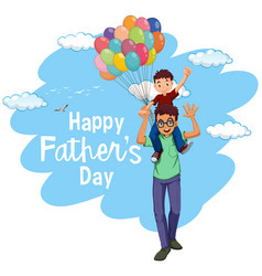 a happy fathers template vector image