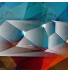 abstract background Polygon blue vector image