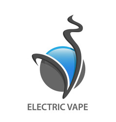 abstract electric vape logo design vector image