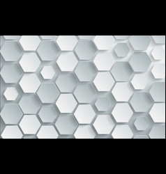 Abstract white hexagon background design vector