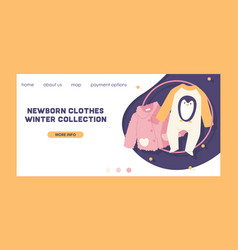 Baby clothing fashion kids winter collection vector