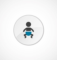 Baby icon 2 colored vector