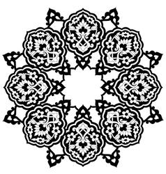 Black artistic ottoman pattern series seventy nine vector