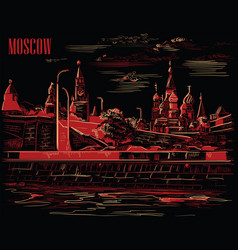 black-red moscow-4 vector image