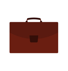 brown travel bag with luggage on white background vector image
