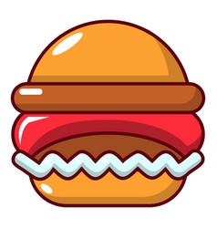 Burger icon cartoon style vector