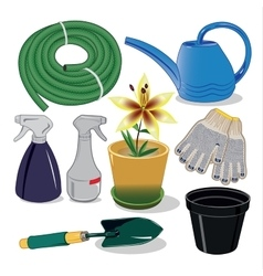 Care of plants for the garden and country houses vector image