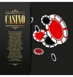 Casino background poker vector